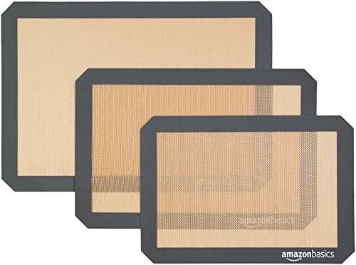 AmazonBasics Silicone Baking Mat Sheet, Set of -