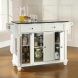 Crosley Furniture Cambridge Solid Black Granite Top Kitchen Island in White Finish Review