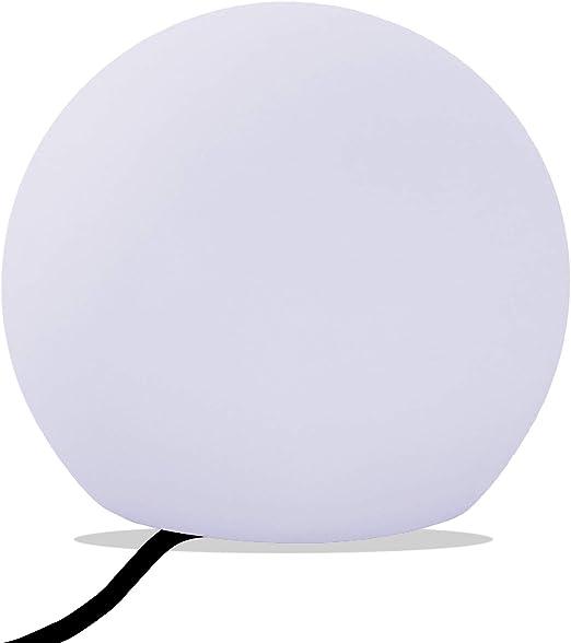 PK Green Lámpara Mesa Salón, Luz E27 Blanca, Esfera LED 30cm ...