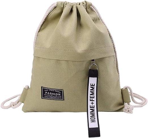 ZXXFR Bolsos Almacenamiento De Lona Gimnasio Escolar Drawstring Bag Pack Mochila Bolsa De 29 X 35 Cm: Amazon.es: Hogar