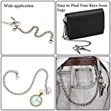 3 Pieces Pants Chain Pocket Chain Belt Metal Jeans
