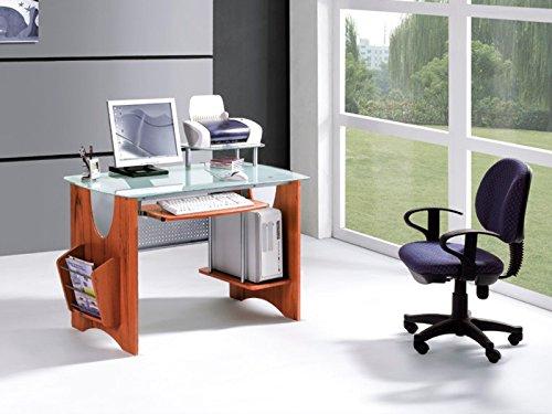 CAPRILO Mesa Decorativa para Ordenador Madera y Cristal. Muebles ...