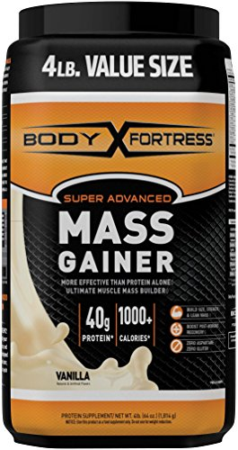 Body Fortress Super Advanced Mass Gainer, Vanilla, 4 Pounds