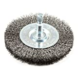 Forney 72736 Wire Wheel Brush, Fine Crimped with 1/4-Inch Hex Shank, 3-Inch by .008-Inch