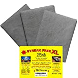 Streak Free XL Microfiber Cloths - Commercial Grade - 3 Pack