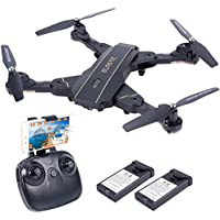 HuiShuTek L603 RC Quadcopter Drone with Camera 720P HD Live Video WiFi 2.4GHz 6-Axis Gyro with Altitude Hold, One Key Return and Headless Mode, Optical sight Function,for Kids & Beginners ,Foldable