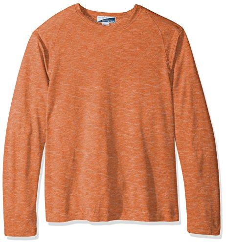 White Sierra Men's Bug Free Base Camp Long Sleeve Tee, Large, Burnt - T Sleeve Shirt Orange Burnt Long