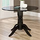Sauder 415096 Round Drop Leaf Table, Black Finish Review