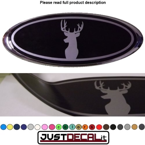 Deer Head (Size 6.35 in X 2.375 In) Fits Ford