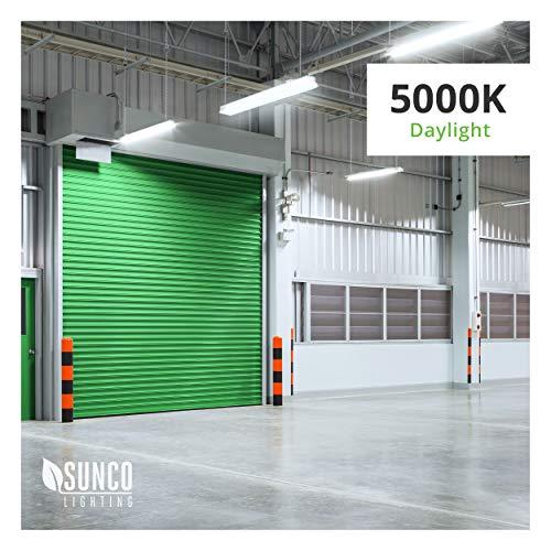 Energy Star Led Garage Lights: Sunco Lighting 2 Pack 4ft 48 Inch LED Flat Utility Shop