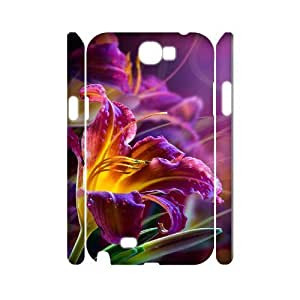 Samsung Galaxy Note 2 N7100 Beautiful Flowers 3D Art Print Design Phone Back Case Custom Hard Shell Protection TY106912