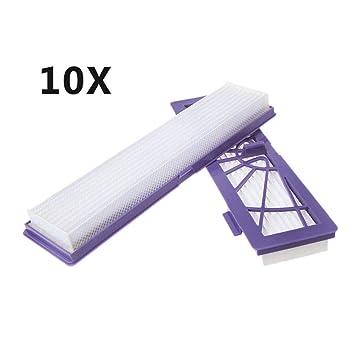 GROOMY 10X Filtros HEPA para Neato Botvac D7 D80 D85 D3 D75 D5 70e 75 80 Aspirador, Accesorio Aspirador: Amazon.es: Hogar