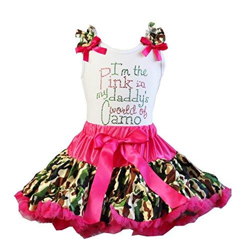 Girls Camo Pettiskirt I'm The Pink Tee Set Medium Pink