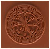 Deep Red Cling Stamp-Compass