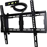 E-onsale Universal Flat Screen LCD Plasma LED TV Wall Mount Bracket Designed for 26''-65'' Plasma LED LCD TV With Free 10' Braided High Speed HDMI Cable T55