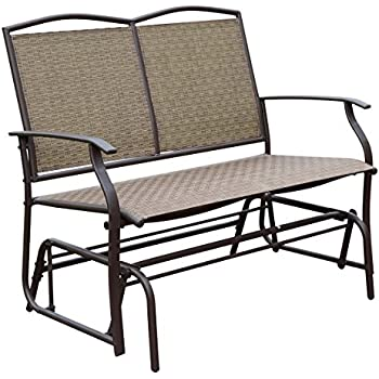 Superb HollyHOME Patio Swing Glider Bench For 2 Person, Garden Chair Rocking  Loveseat, All Weatherproof