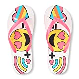 The Childrens Place Kids BG Form Emoji FF Flat Sandal