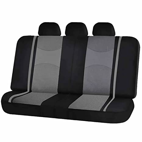 Sensational Uaa Inc Mesh Honeycomb Back Split Bench Seat Cover Headrest Covers For Car Truck Suvs Gray Caraccident5 Cool Chair Designs And Ideas Caraccident5Info