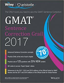 Book Wiley'S GMAT Sentence Correction Grail 2017