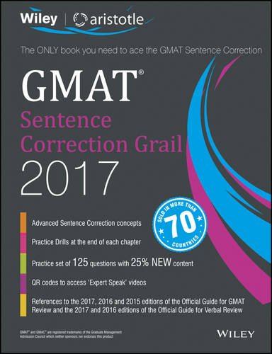 Wiley'S GMAT Sentence Correction Grail 2017