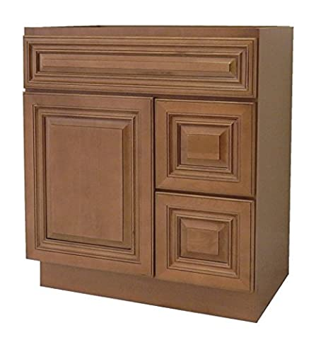 NGY Coffee Glaze Vanity Cabinet Maple Wood COG-3021DR, 30