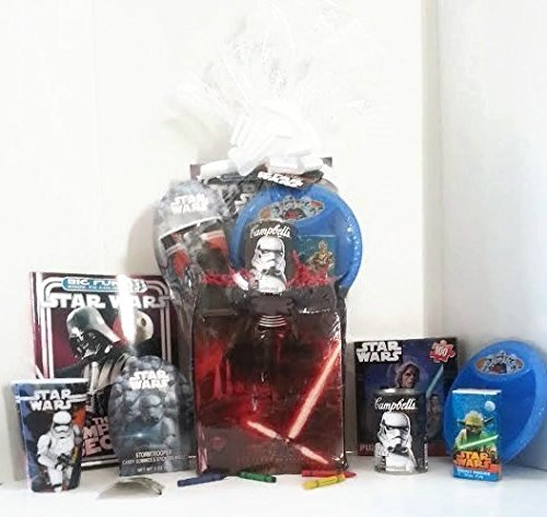 Star Wars Gift Basket, Get Well Soon, Care Package, Kids Action Pack, Star Wars Toy Puzzle, Star Wars Cup & Bowl, Coloring Book & Candy, Tissues & Stickers + Star Wars Campbell's Soup 10pc Bundle