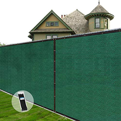 AITREASURE 6.5ft x 16.5ft Privacy Fence Screen Green, Privacy Screen Mesh for Fence, Windbreak Shade Netting 90% Sunshade, Privacy Netting with 100pcs Cable Ties