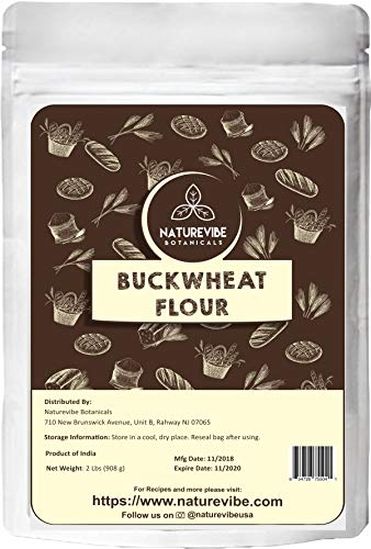 Naturevibe Botanicals Buckwheat Flour (2lbs) | Gluten Free & Non GMO | Helps Weight Loss. ()