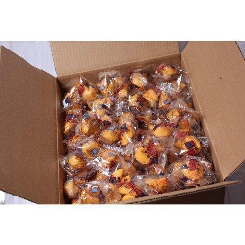 100 Pcs Fortune Cookies Fresh Single Wrap(golden (Chocolate Fortune Cookies)
