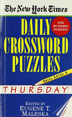 The New York Times Daily Crossword Puzzles (Thursday), Volume I by Eugene T. Maleska (1-Feb-1997) Mass Market Paperback