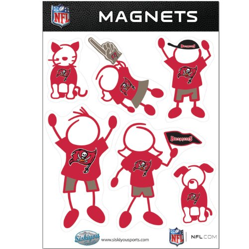 NFL Tampa Bay Buccaneers Family Magnet Set