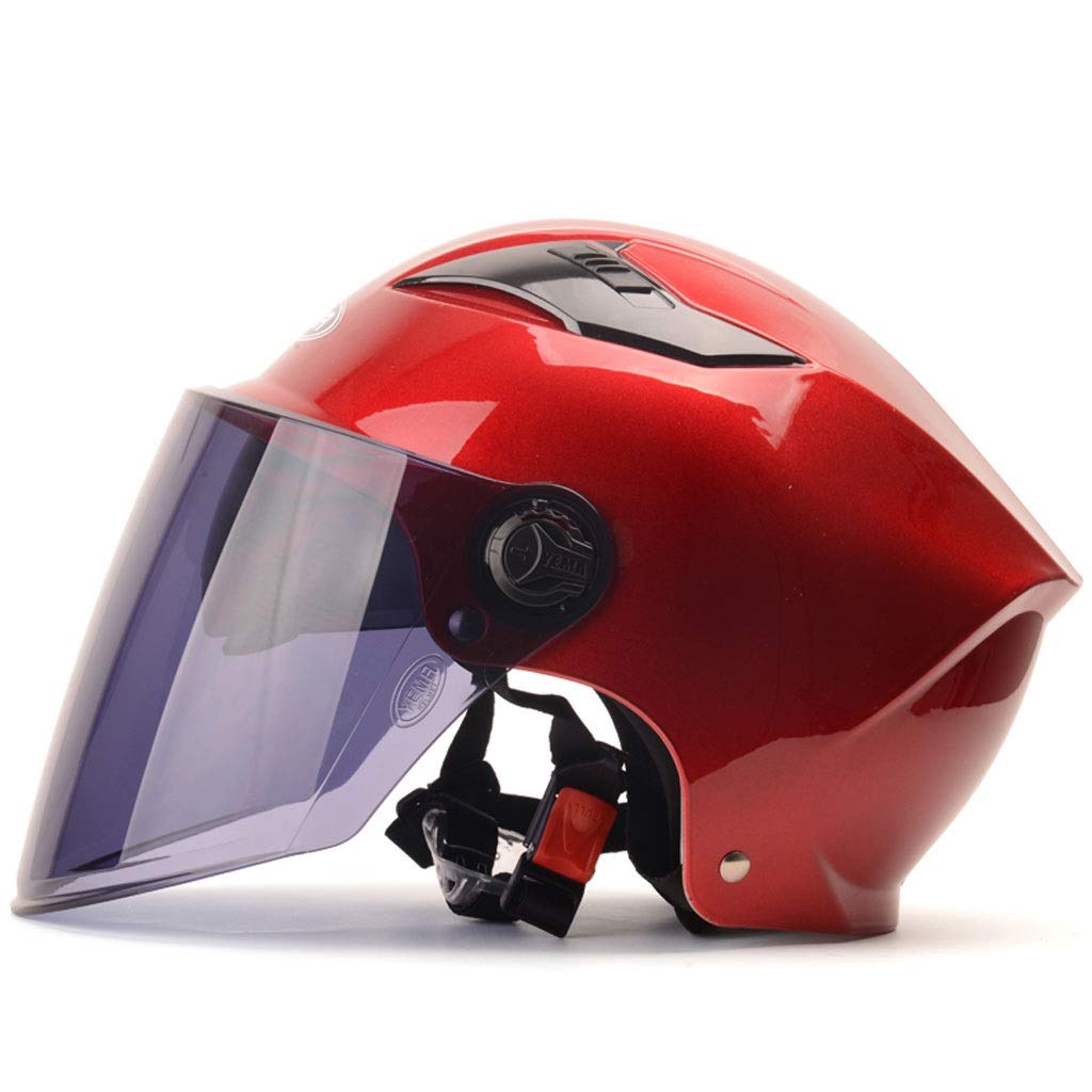 ZJJ Helm- Unisex-Helm, Regen- und UV-Schutzhelm, braune LinseB07Q7QC6VZKinder- & JugendhelmeSehr gute Qualität | Angenehmes Gefühl