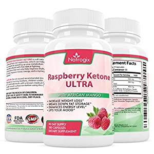 Natrogix Pure Raspberry Ketones Extract - Natural Weight Loss Supplements for Appetite Suppressant, Metabolism Booster, Fat Burner & Carb Blocker from Natrogix