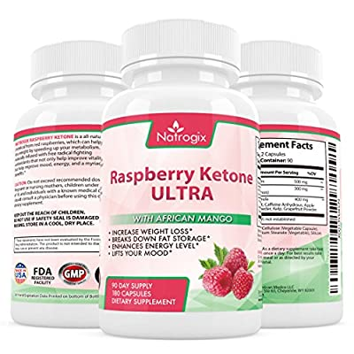Natrogix Pure Raspberry Ketones Extract - Natural Weight Loss Supplements for Appetite Suppressant, Metabolism Booster, Fat Burner & Carb Blocker