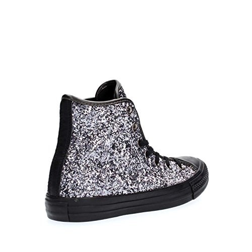 Baskets Nero Femme Hi Tex Star Converse Glitter Montantes All w08SX