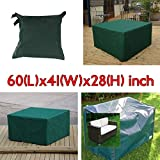 Get Across Garden Furniture Covers Patio Furniture & Accessories - 152x104x71cm Garden Outdoor Furniture Waterproof Breathable Dust Cover Table Shelter - Screening Spread Over Wrap - 1PCs