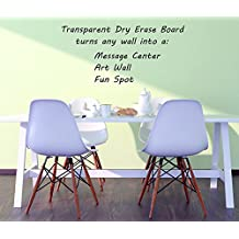 """Clear Dry Erase Sticker Board (22"""" x 36""""): Premium Heavy Duty 2.5 mil Wall Vinyl Dry Erase Sheets - Peel & Stick Clear Dry Erase Board - Dry Erase Decals w/ Square or Round Corners (Made in USA!)"""