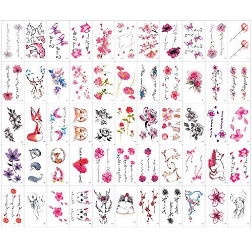 Shimigy 60 Sheets Rainbow Tattoos Rainbow Stickers Temporary Waterproof Tattoos