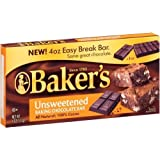 Bakers Unsweetened Baking Chocolate Bars 113g (4oz)