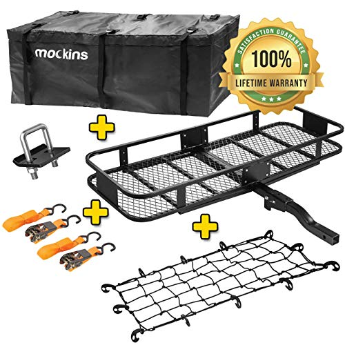 Mockins Hitch Mount Cargo Carrier with Cargo