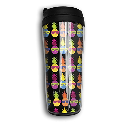 Arkansas 12 Ounce Tumbler (Pineappple Sunglasses Party Traveling Cup Coffee Mug Tumbler Insulated Portable,12oz.)