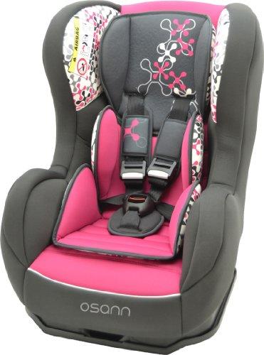 Osann Kinderautositz Cosmo SP, (0-18 kg), ECE Gruppe 0/1, von Geburt bis ca. 4 Jahre, reboard bis 10 kg nutzbar, Corail Framboise Pink