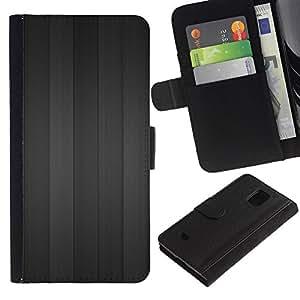 All Phone Most Case / Oferta Especial Cáscara Funda de cuero Monedero Cubierta de proteccion Caso / Wallet Case for Samsung Galaxy S5 Mini, SM-G800 // Gray wood