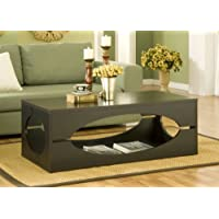 ioHOMES Somer Rectangular Coffee Table, Cappuccino