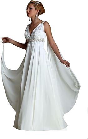 Formaldresses High Waist Maternity Beach Greek Style Wedding Dress