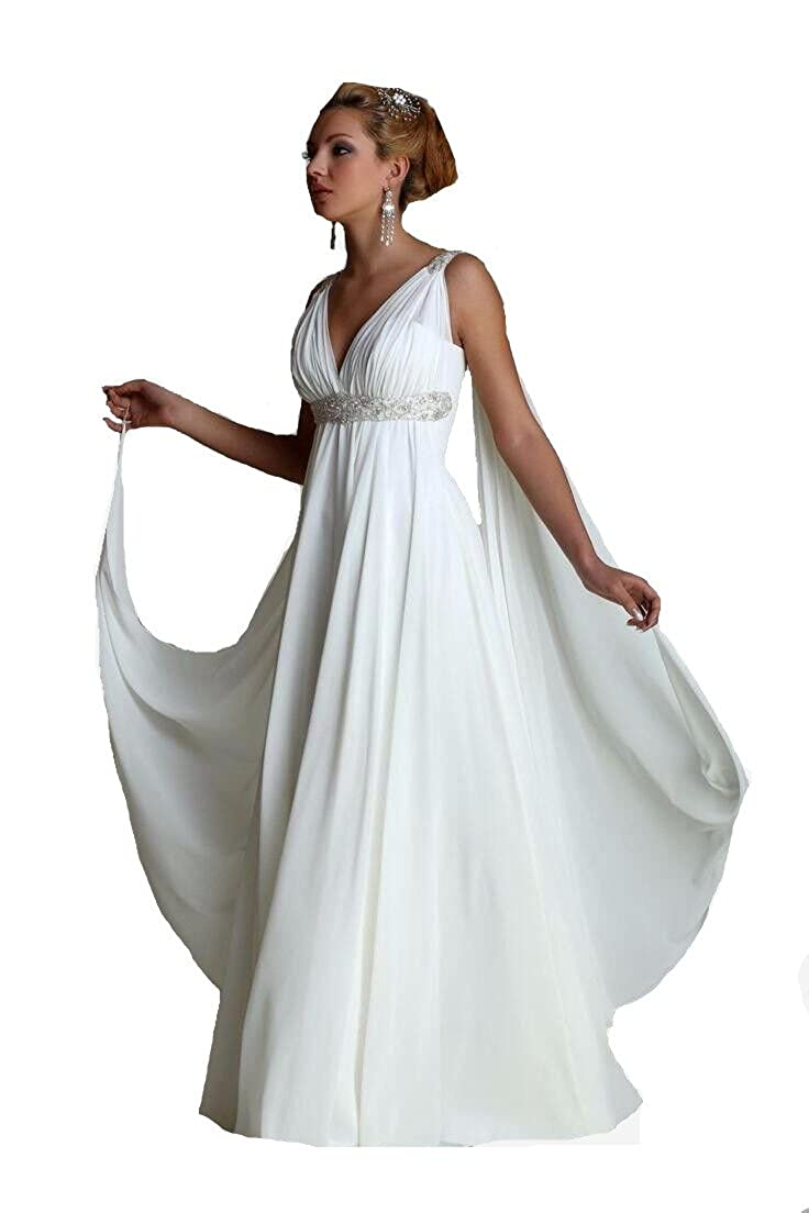 Formaldresses High Waist Maternity Beach Greek Style Wedding Dress