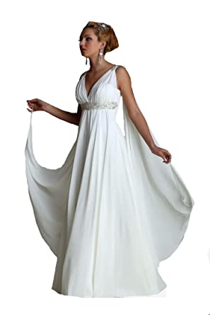 Formaldresses High Waist Maternity Beach Greek Style Wedding Dress ...