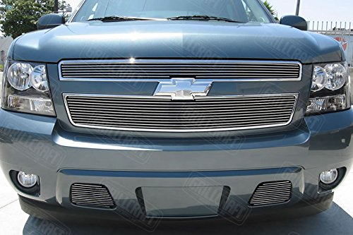 Chevy Tahoe Billet Grill - GrillCraft CHE1508-BAO BG Series Polished Aluminum Lower 2pc Billet Grill Grille Insert for Chevy Avalanche Suburban Tahoe
