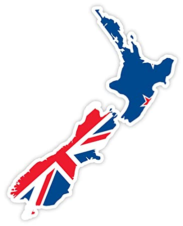 New zealand map flag sticker decal 4