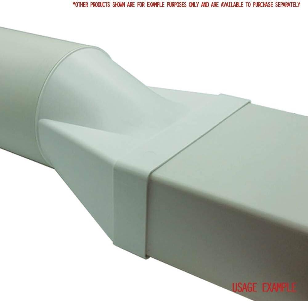 Gerade 150/mm rund Stecker Duct Adapter bis rechteckig 220/x 90/mm flach Luftf/ührung Kanal Anschluss von KAIR Ventilator System 220